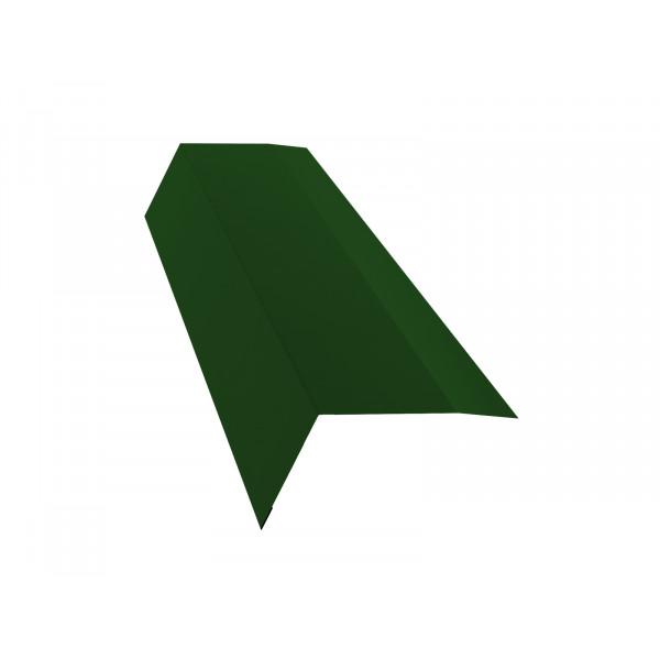 Планка карнизная 100х65 0,45 PE с пленкой RAL 6002 лиственно-зеленый