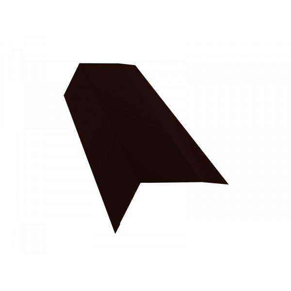 Планка карнизная 100х65 0,45 PE с пленкой RR 32 темно-коричневый