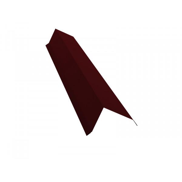 Планка торцевая 80х100 0,45 PE с пленкой RAL 3005 красное вино