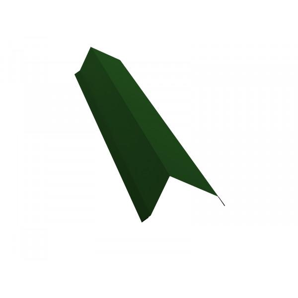 Планка торцевая 80х100 0,45 PE с пленкой RAL 6002 лиственно-зеленый