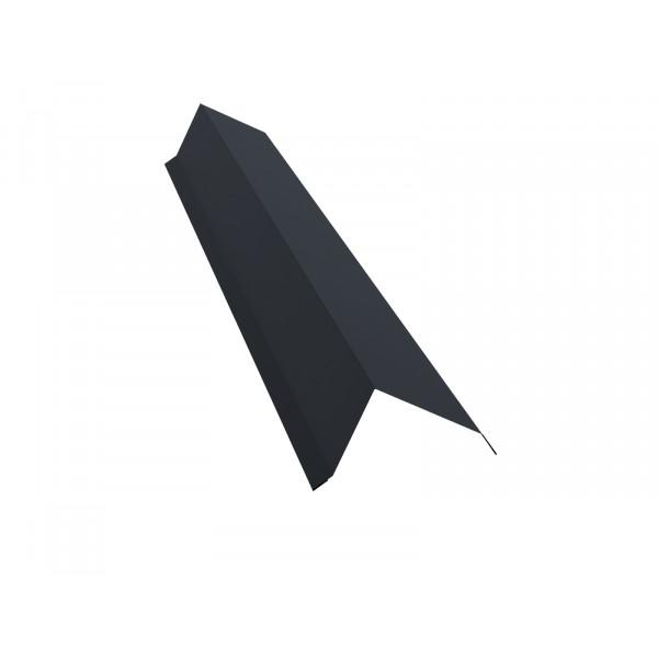 Планка торцевая 80х100 0,45 PE с пленкой RAL 7024 мокрый асфальт