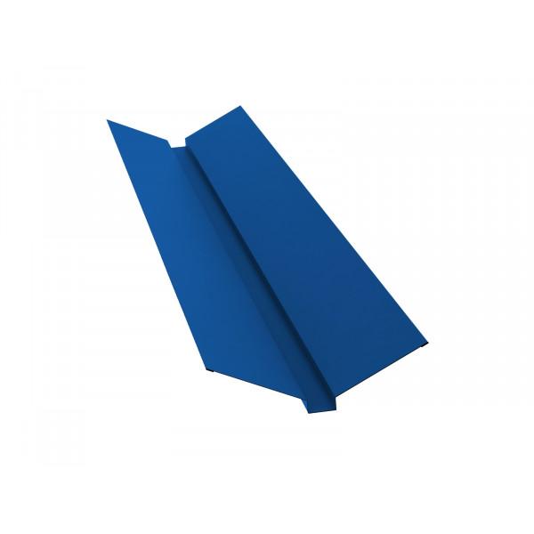 Планка ендовы верхней 115х30х115 0,5 Satin с пленкой RAL 5005 сигнальный синий
