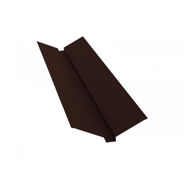 Планка ендовы верхней 115х30х115 0,45 PE с пленкой RAL 8017 шоколад