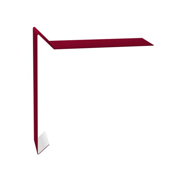 Планка ветровая для мягкой кровли 130х25х100 0,45 PE с пленкой RAL 3003 рубиново-красный