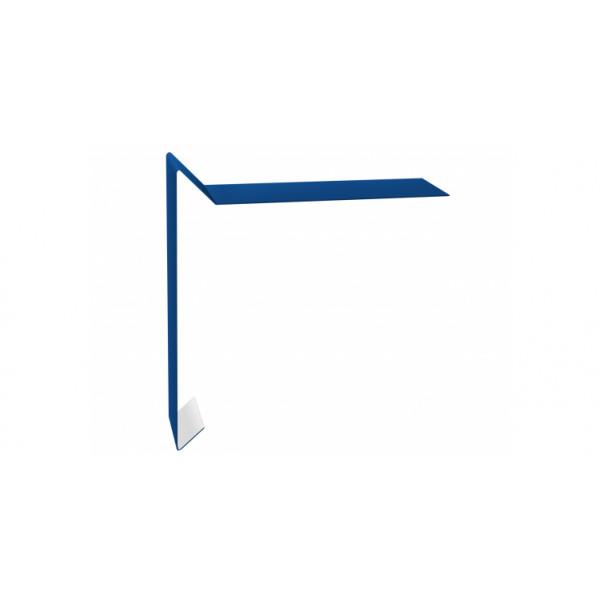Планка ветровая для мягкой кровли 130х25х100 0,45 PE с пленкой RAL 5005 сигнальный синий
