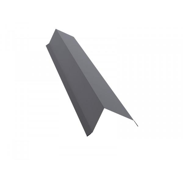 Планка торцевая 142х100 0,45 PE с пленкой RAL 7004 сигнальный серый