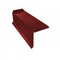 Планка торцевая сегментная 20мм Левая 0,5 Satin с пленкой RAL 3011 коричнево-красный