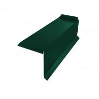 Планка торцевая сегментная 20мм Правая 0,45 PE с пленкой RAL 6005 зеленый мох