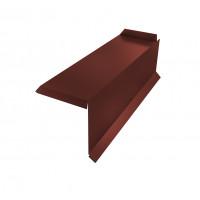 Планка торцевая сегментная 20мм Правая 0,5 Satin с пленкой RAL 3009 оксидно-красный