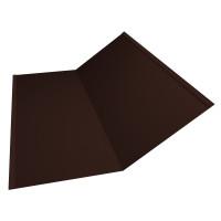 Планка ендовы нижней 300х300 0,45 PE с пленкой RAL 8017 шоколад