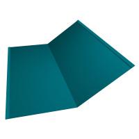 Планка ендовы нижней 300х300 0,45 PE с пленкой RAL 5021 водная синь