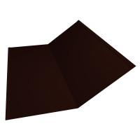 Планка ендовы нижней 300х300 0,45 PE с пленкой RR 32 темно-коричневый