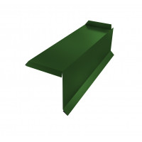 Планка торцевая сегментная 30мм Правая 0,45 PE с пленкой RAL 6002 лиственно-зеленый
