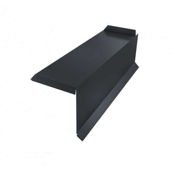 Планка торцевая сегментная 30мм Правая 0,45 PE с пленкой RAL 7024 мокрый асфальт