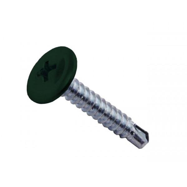 Саморезы ПШС 4,2х16 RAL 6005 (1000 шт)