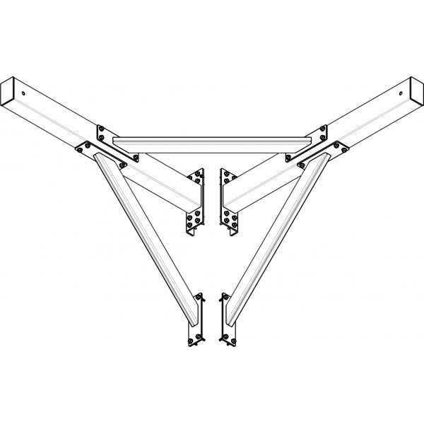 Кронштейн угловой под гасительную сетку RAL 6005