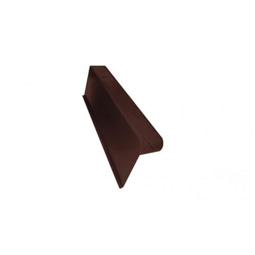 Боковая облегченная черепица левая Braas коричневый