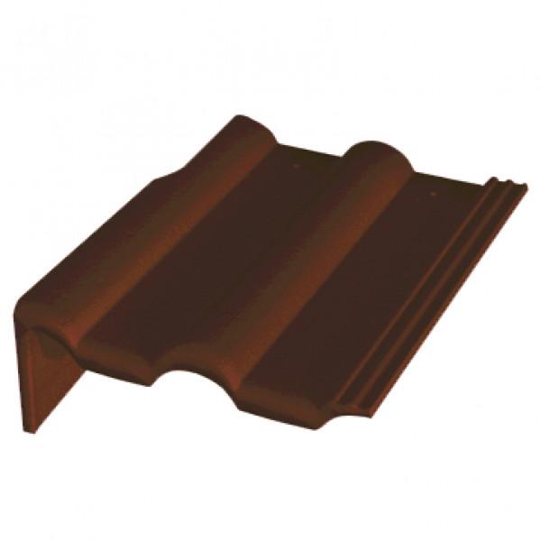 Боковая цементно-песчаная черепица Braas Франкфуртская правая, темно-коричневый