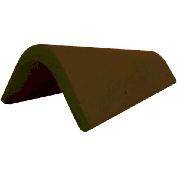 Боковая универсальная черепица Braas темно-коричневый