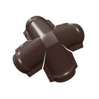 Четверник конька полукруглого РЕ с пленкой RAL 8017 шоколад