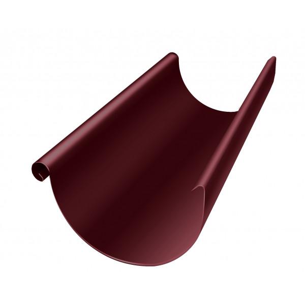 Желоб полукруглый Optima 125мм 3м RAL 3005 красное вино