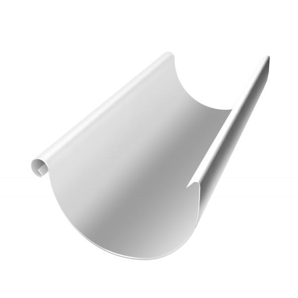 Желоб водосточный металлический 125 мм 3 м RAL 9003 сигнальный белый