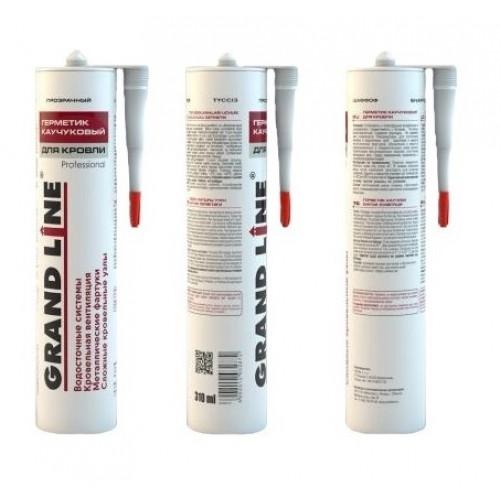Герметик кровельный Grand Line Professional каучуковый бесцветный 310мл