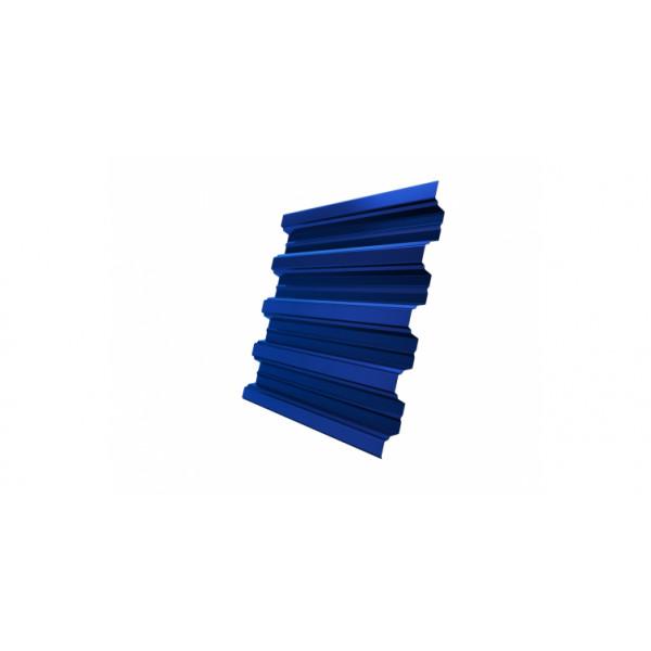 Профнастил Н75R 0,7 PE RAL 5005 сигнальный синий DRIP