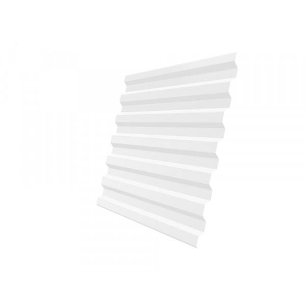 Профнастил С21R 0,4 PE RAL 9003 сигнальный белый