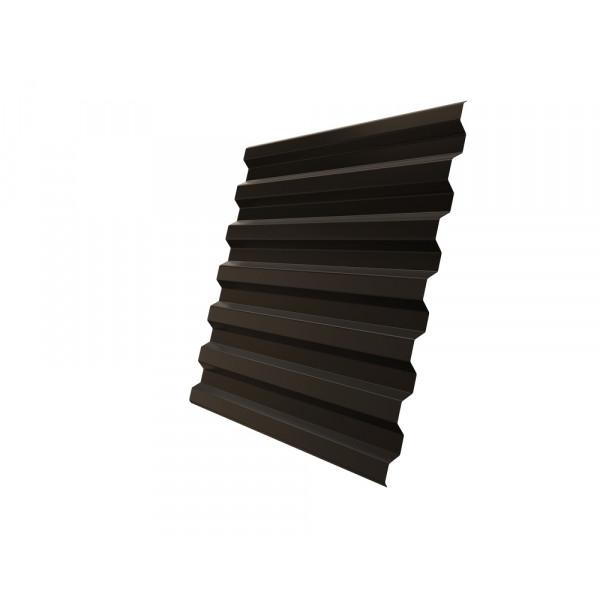 Профнастил С21R 0,5 Satin RR 32 темно-коричневый