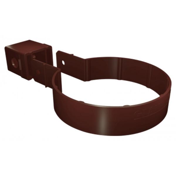 Хомут трубы Kliker ПВХ Grand Line Premium шоколадный (инд.упак.) (RAL 8017)