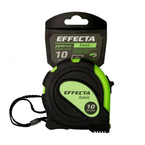 Рулетка 10м с магнитом, 2 фиксатора Effecta Basic