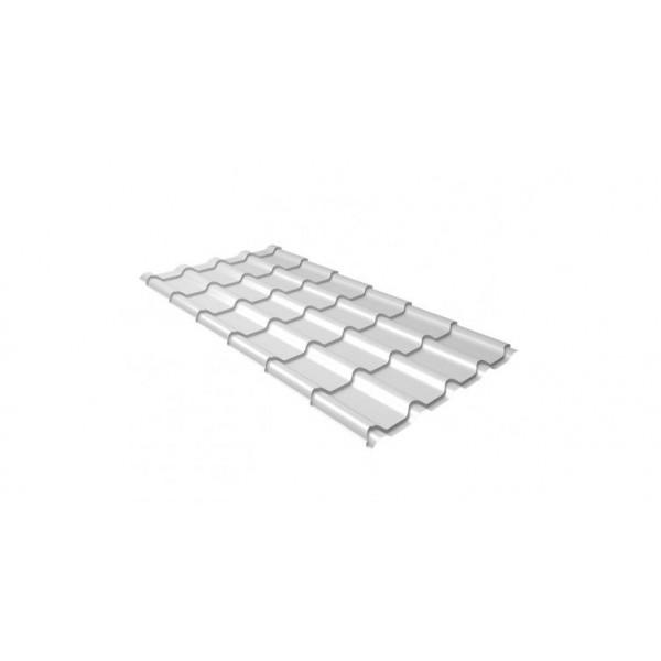 Металлочерепица камея 0,45 PE RAL 9003 сигнальный белый