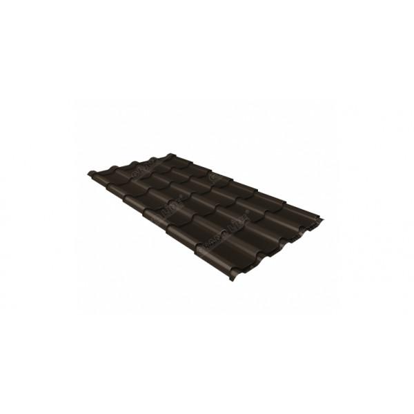 Металлочерепица камея 0,5 Satin RR 32 темно-коричневый