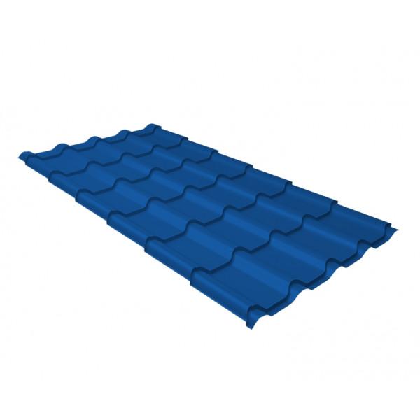 Металлочерепица камея 0,5 Satin RAL 5005 сигнальный синий
