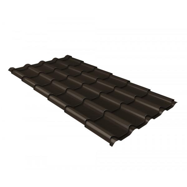 Металлочерепица камея 0,5 Satin Мatt RR 32 темно-коричневый