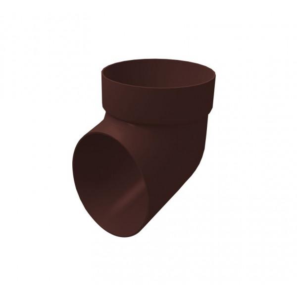 Колено сливное ПВХ Grand Line шоколадное (RAL 8017)