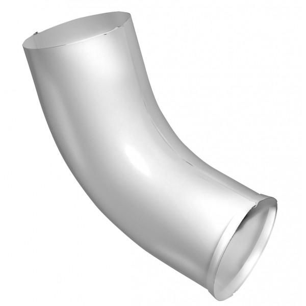 Колено стока 100 мм RAL 9003 сигнальный белый