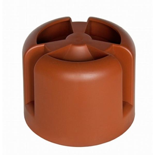 Колпак Krovent Hupcap 110 кирпичный