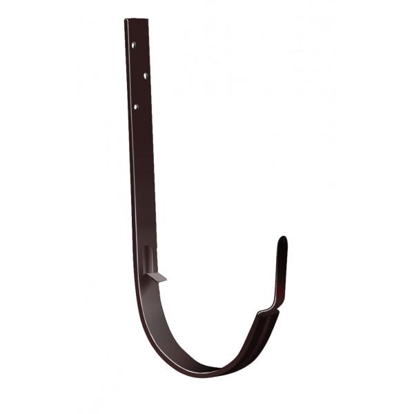 Кронштейн желоба ПВХ Grand Line металлический шоколадный (RAL 8017)