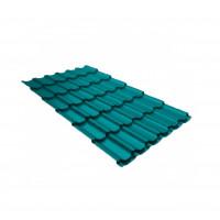 Металлочерепица квинта плюс 0,45 PE RAL 5021 водная синь