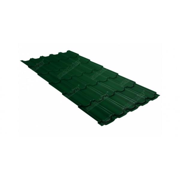 Металлочерепица квинта плюс 0,45 PE RAL 6005 зеленый мох