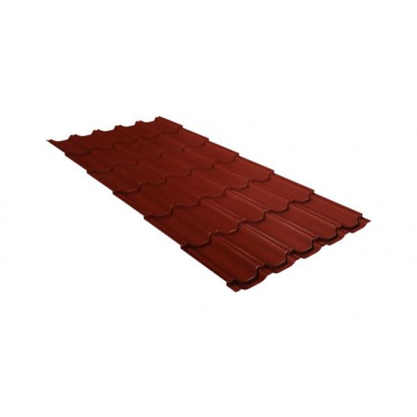 Металлочерепица квинта плюс 0,45 PE RAL 3009 оксидно-красный