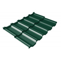 Металлочерепица модульная квинта Uno Grand Line c 3D резом 0,45 PE RAL 6005 зеленый мох