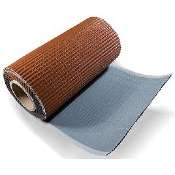Лента для примыкания гофрированная алюминиевая коричневая (5м)