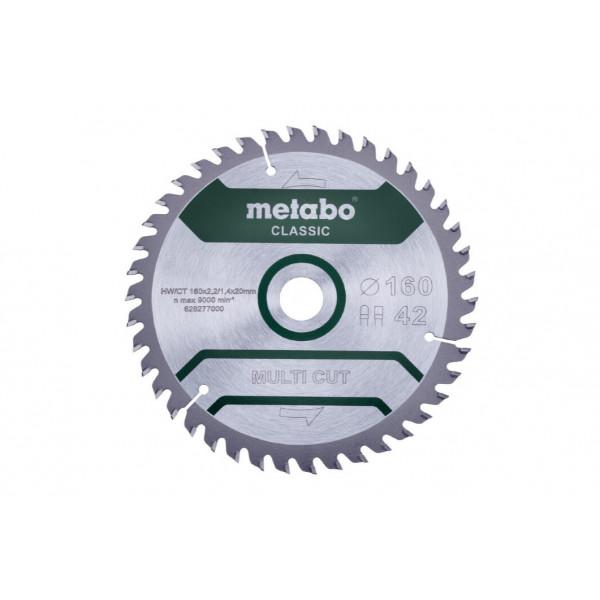 Диск пильный Multi Cut Classic (160x20 мм; 42Z; FZ/TZ 10) Metabo 628277000