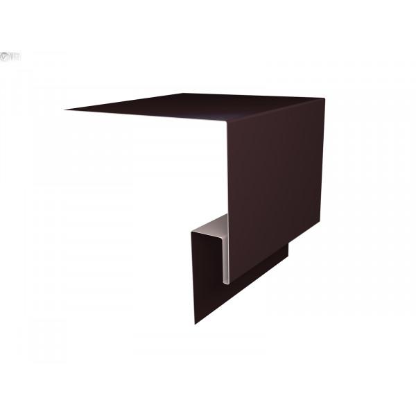 Планка околооконная сложная (Блок-хаус, Экобрус) Grand Line 250х75х23 0,45 PE с пленкой RAL 8017 шоколад