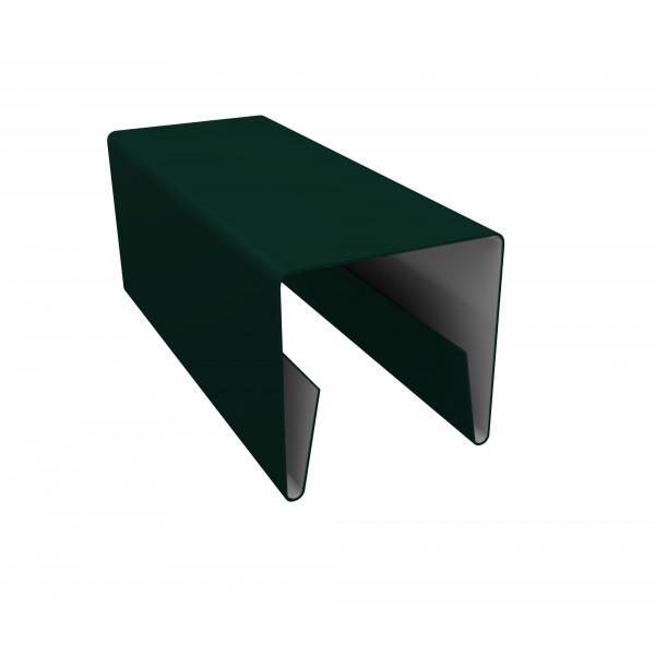 Планка П-образная заборная 20 0,45 PE с пленкой RAL 6005 зеленый мох