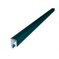 Планка П-образная заборная 17 0,45 PE с пленкой RAL 5021 водная синь