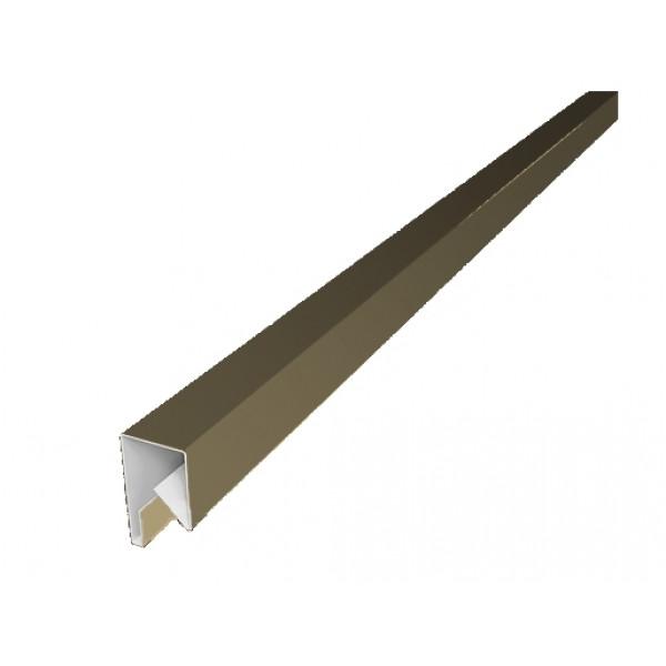 Планка П-образная заборная 17 0,45 PE с пленкой RAL 1014 слоновая кость